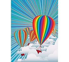 Colorful hot air balloons Photographic Print