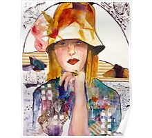 Flowered Hat Poster
