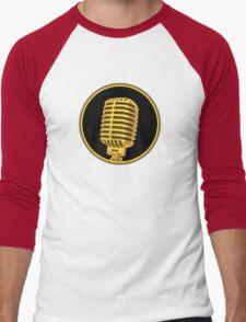 Vintage Gold Microphone Men's Baseball ¾ T-Shirt