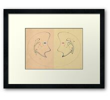 A KISS IS ABOUT TO HAPPEN  Framed Print