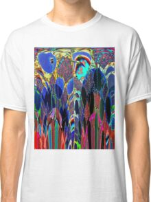 Blue Poppies in garden Classic T-Shirt