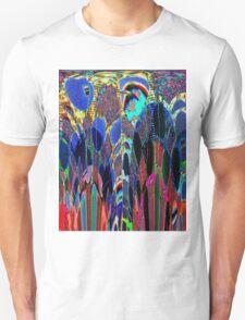 Blue Poppies in garden T-Shirt