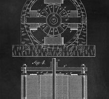 Tesla Coil Patent Art by Edward Fielding
