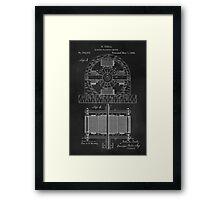 Tesla Coil Patent Art Framed Print