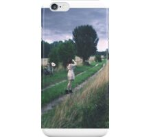 following trails left behind in the skies iPhone Case/Skin