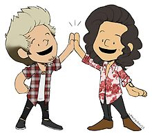 Harry and Niall High-Five by ashleyrguillory