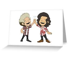 Harry and Niall High-Five Greeting Card
