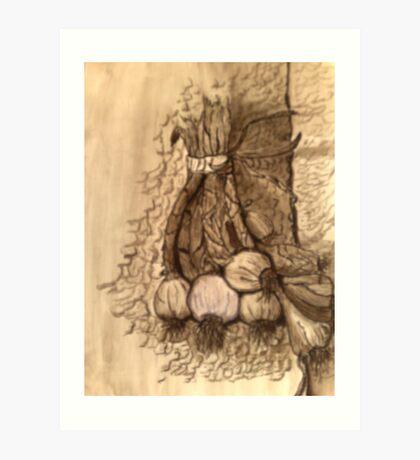 garlic's flavor Art Print