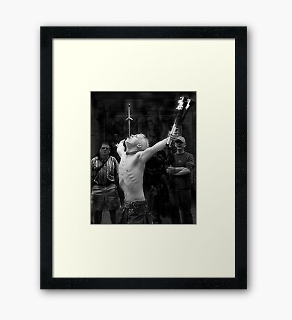 'Manx' from the 'Let me Entertain you series' Framed Print