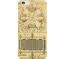 TESLA POSTER Electric Motor 1888 Patent  iPhone Case/Skin