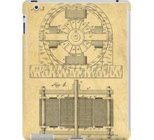 TESLA POSTER Electric Motor 1888 Patent  iPad Case/Skin