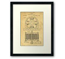 TESLA POSTER Electric Motor 1888 Patent  Framed Print
