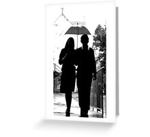 Claire and Mr Darcy Greeting Card