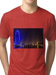 London Eye and the Houses of Parliament, England Tri-blend T-Shirt