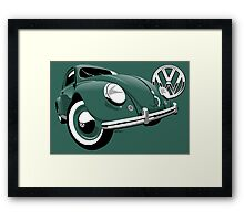 VW Beetle type 1 green Framed Print