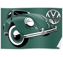 VW Beetle type 1 green Poster