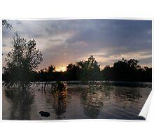Raging River Sunrise Poster