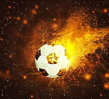 Soccer Ball in Fire by AnnArtshock