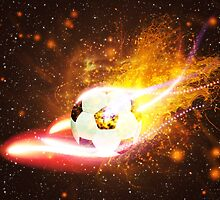 Soccer Ball in Fire 2 by AnnArtshock