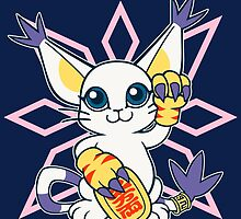 Lucky Gatomon  by coinbox tees