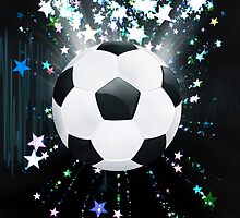 Stars Explosions and Soccer Ball by AnnArtshock