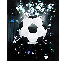 Stars Explosions and Soccer Ball Photographic Print