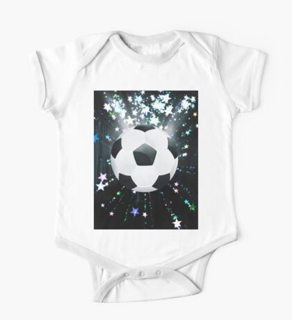 Stars Explosions and Soccer Ball One Piece - Short Sleeve