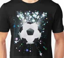 Stars Explosions and Soccer Ball Unisex T-Shirt