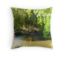 green is the morn Throw Pillow
