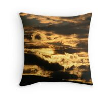 Clouds aflame at Sunset Throw Pillow