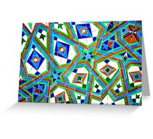 Old Moroccan Tiles 2 Greeting Card