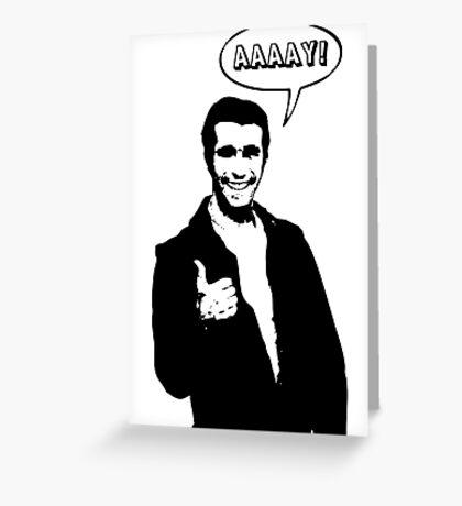 Happy Days Fonzie T-Shirt Greeting Card