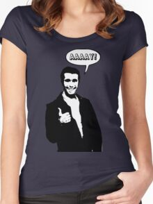 Happy Days Fonzie T-Shirt Women's Fitted Scoop T-Shirt