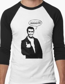 Happy Days Fonzie T-Shirt Men's Baseball ¾ T-Shirt