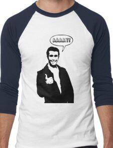 Happy Days Fonzie T-Shirt Men's Baseball ¾ T-Shirt