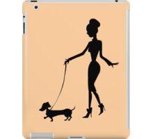 Flaunting The Pooch (peach) iPad Case/Skin