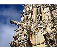 Statues, exterior of Siena Cathedral, Italy Photographic Print