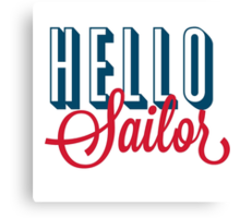 Hello Sailor Classic Red and Blue Design Canvas Print