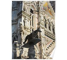 She wolf statue, Siena Cathedral, Siena, Italy Poster