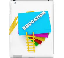 education concept, text on colorful books iPad Case/Skin