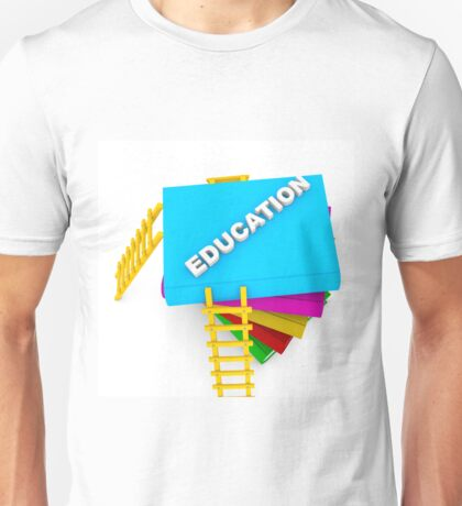 education concept, text on colorful books Unisex T-Shirt