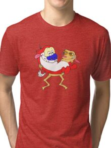 Retro Ren & Stimpy Tribute Tri-blend T-Shirt