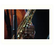 jazz fingers Art Print