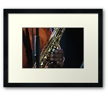 jazz fingers Framed Print