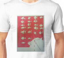 fish on red Unisex T-Shirt