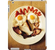 Friendly Breakfast Face  iPad Case/Skin
