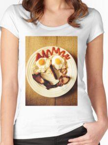 Friendly Breakfast Face  Women's Fitted Scoop T-Shirt