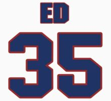 National baseball player Ed Albrecht jersey 35 by imsport