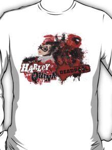 Harley Quinn VS Dead Pool v1 T-Shirt