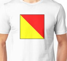 International maritime signal flags sea alphabet collection letter o Unisex T-Shirt